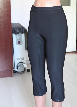 Спортивные леггинсы nike оригинал черные лосины для фитнеса 38 м размер