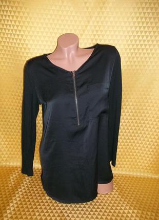 Женская блуза. спереди - креп шифон, сзади стрейчевая.