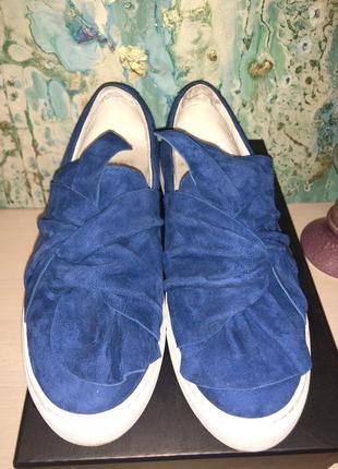 Синие замшевые слипоны attizzare!