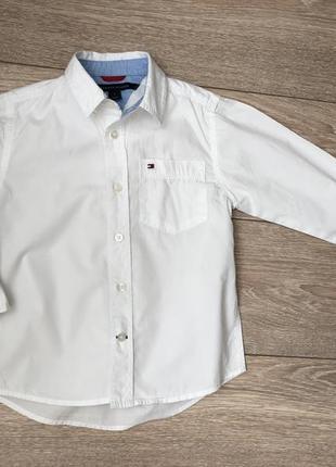 Котоновая  рубашка tommy hilfiger p.5лет