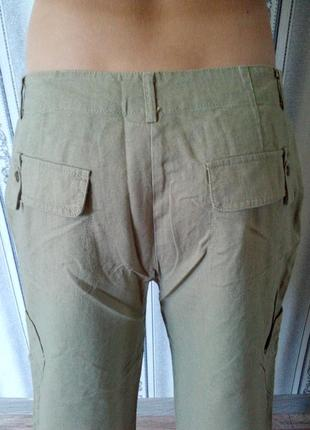 Лёгкие льняные брюки на каждый день3 фото