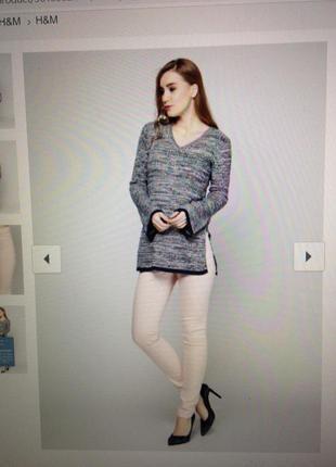 Джеггинсы джинсы на резинке стрейч высокая посадка цвет пудра2 фото
