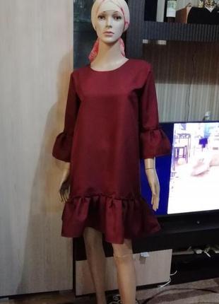 Платье,волан,оборка