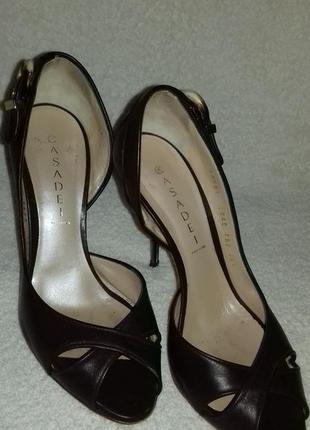 Туфли casadei оригинал коричневые