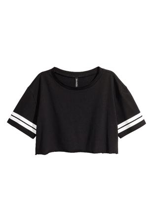 Чёрная футболка-топ h&m