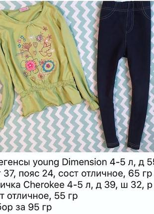 Набор лосины и реглан-туника на девочку 4-5 лет