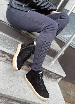 Зимние ботиночки из натуральной замши