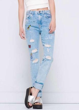 Pull&bear джинсы mom