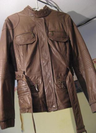 Куртка косуха кожаная next натуральная кожа