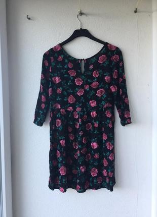 Красивейшее лёгкое свободное платье из вискозы в цветочный принт