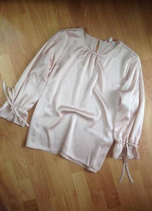Нюдовая блуза