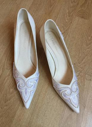 Свадебные кожаные туфли louisa peeress