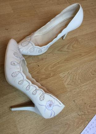 Свадебные туфли от louisa perress кожа
