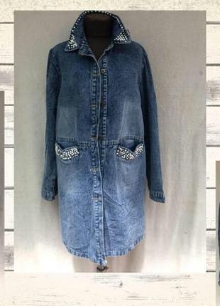 Стильна джинсова куртка, рр.52-58
