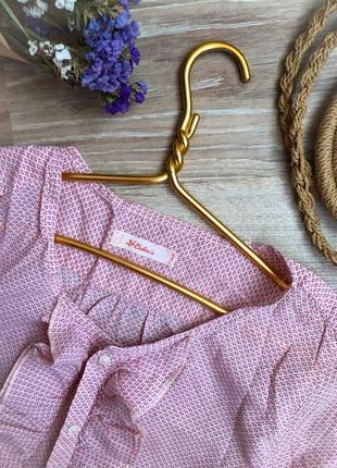 Романтическая блуза с тонкого хлопка в мелкий цветочек