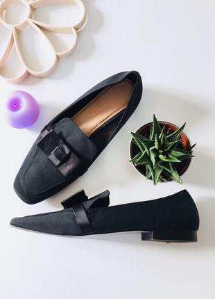 Стильные туфли мюли с бантиком от zara