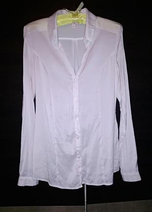 She рубашка классическая молочного цвета