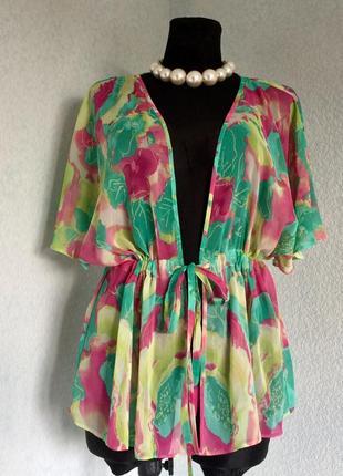 Кофта блузка туника style by ewm размер  18 наш 50-52-54 цена 199грн