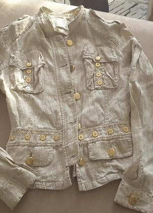 Льняной пиджак gizia