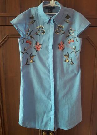 Блузка туника с вышивкой atmosphere