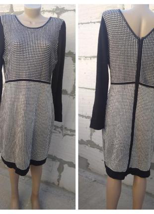 Уютное вязаное платье с молнией calvin klein