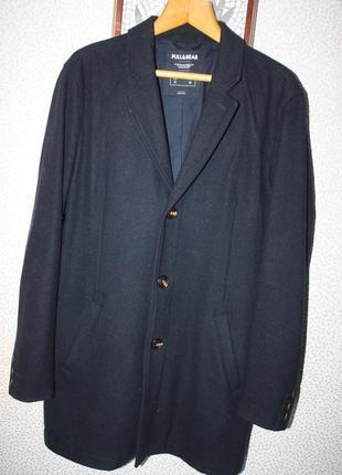 Мужское шерстяное пальто тренч от pull and bear