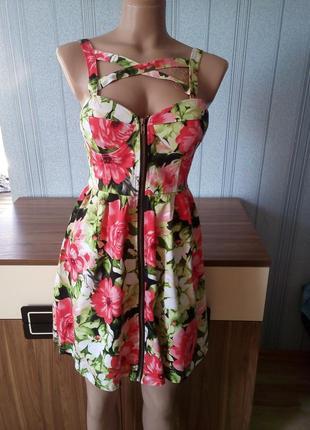 Платье сарафан на молнии paprika