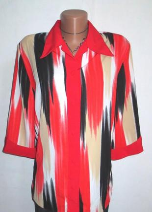 Стильная блуза от daria стройнит размер: 52-хl