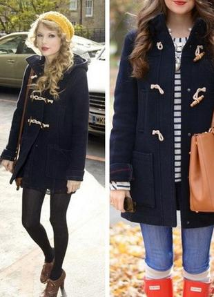 Pull&bear стильное шерстяное пальто-дафлкот