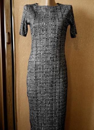 Платье в рубчик размер 12 george