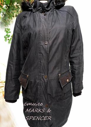 Пальто парка m&s  per una на синтепоне, вещи со шкафа в распродаже!