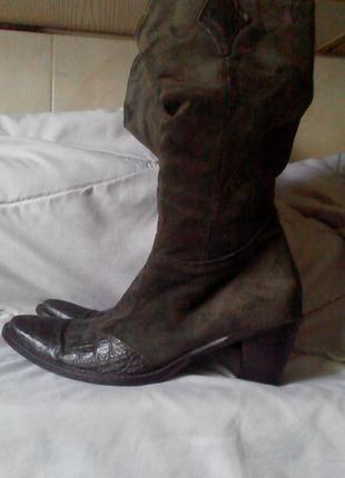 Модные сапоги в ковбойском стиле lav. artigiana италия