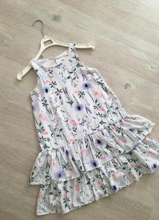 Летнее платье сарафан h&m   xs-s