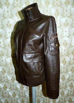 Фирменная кожаная куртка. mng.  100 % натуральная кожа.