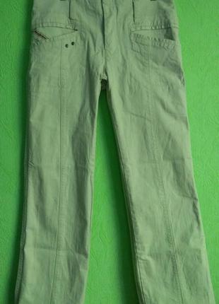 Джинсы женские фирменные, штаны прямые светлые diesel, р. 28.