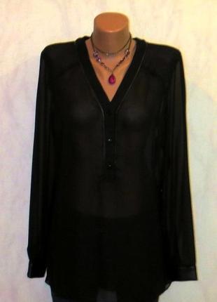 Стильная шифоновая блуза-туника от etam размер: 48-l