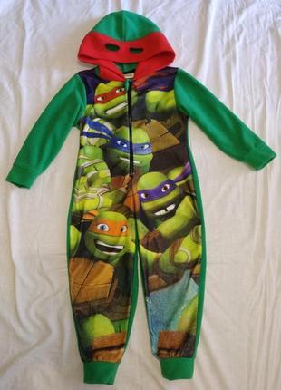 Флисовый человечек ромпер слип пижама 3-4 г 98-104 см