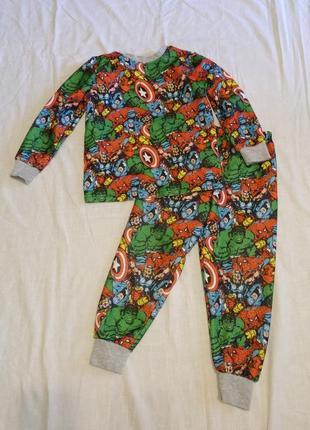 Флисовая пижама 5-6 лет 116 см