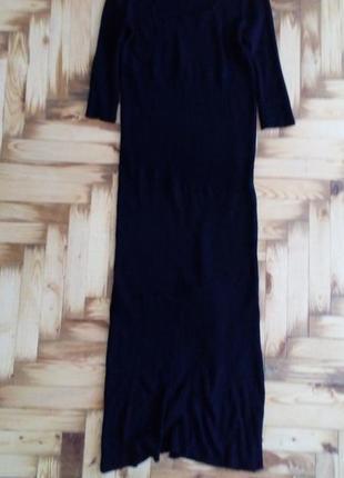 Черное платье миди для беременных теплое