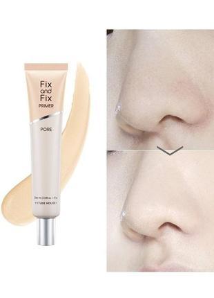 Праймер для маскировки расширенных пор etude house fix and fix pore primer миниатюра