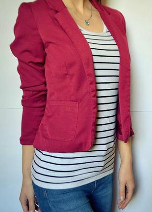 Пиджак жакет цвета марсала