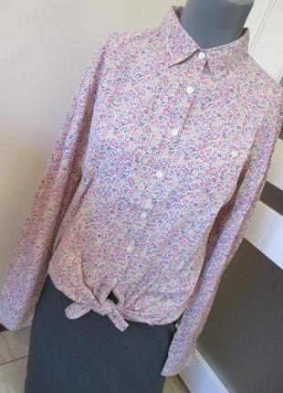 e5e20b9a0576134 Трендовая рубашка colin's, р-р м, цветочный принт, снизу завязывается на  узел
