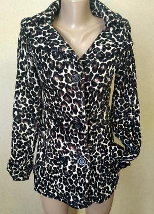Пальто 42 р леопардовое