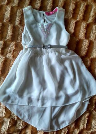 Плаття шифон шлейф шифоновое платье с паетками