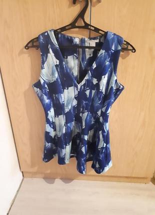 Блуза с ассиметричной баской h&m