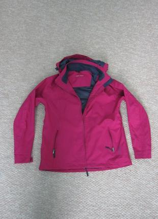 Спортивная малиновая женская куртка-ветровка р. м-л