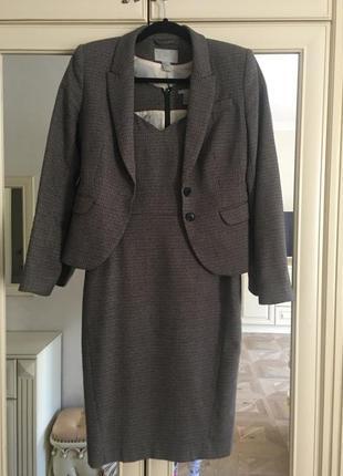 Классический костюм платье с пиджаком 🎩