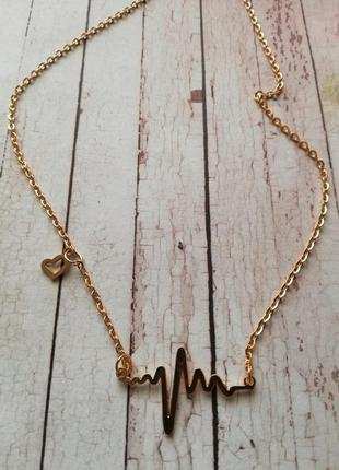 Цепочка с сердечком в золоте и серебре