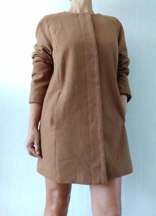 Шерстяное базовое пальто oversize doroti perkins р 16