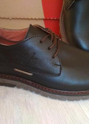 Шикарные мужские туфли демисезон, натуральная кожа высокого качества, р.40-45
